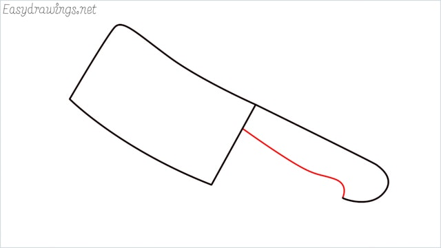 how to draw a cleaver step (4)
