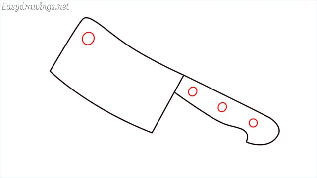 how to draw a cleaver step (5)