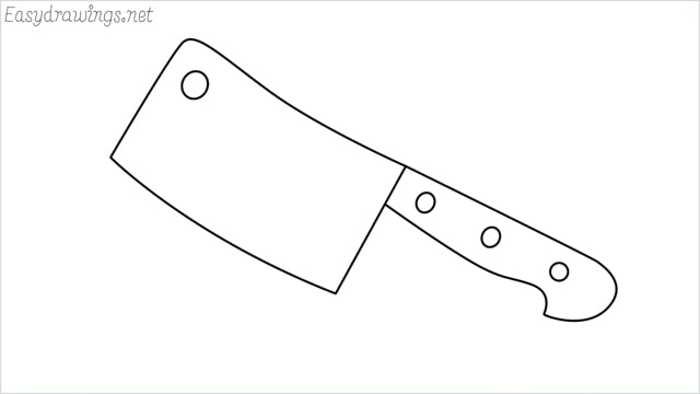 how to draw a cleaver step by step