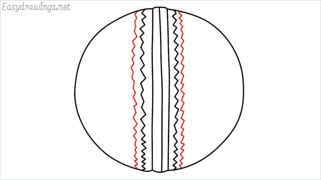 how to draw a cricket ball step (6)