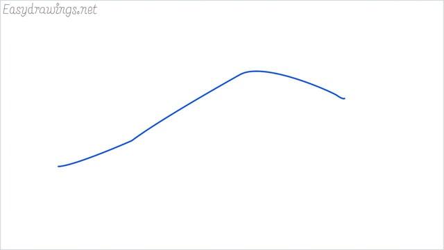 how to draw a crocodile step (1)