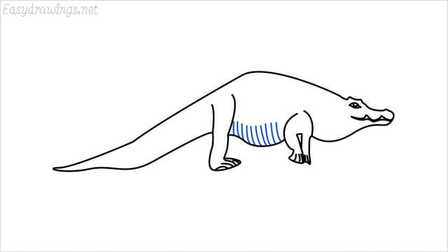 how to draw a crocodile step (11)