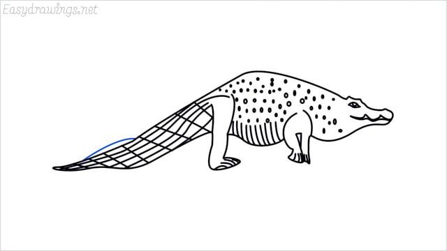 how to draw a crocodile step (15)