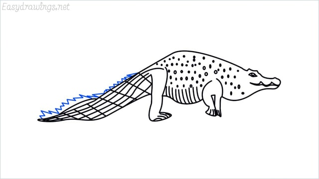how to draw a crocodile step (16)