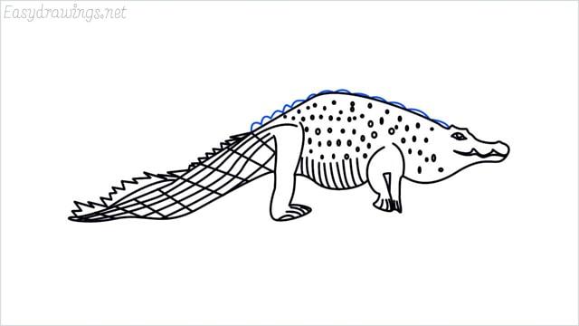 how to draw a crocodile step (17)