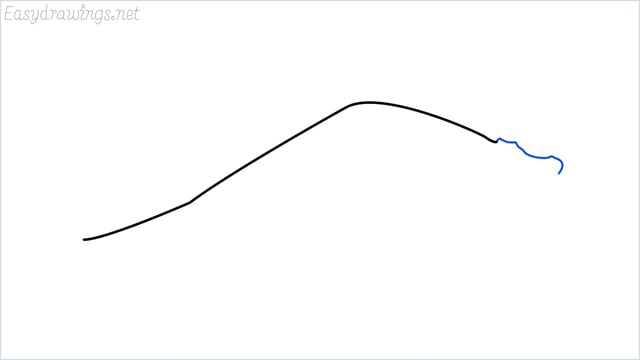 how to draw a crocodile step (2)