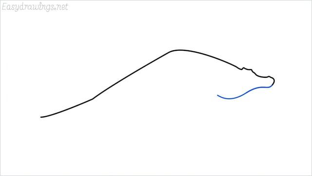 how to draw a crocodile step (3)