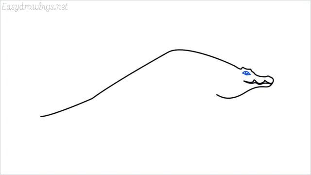 how to draw a crocodile step (5)