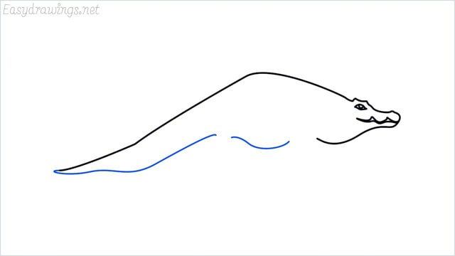 how to draw a crocodile step (6)