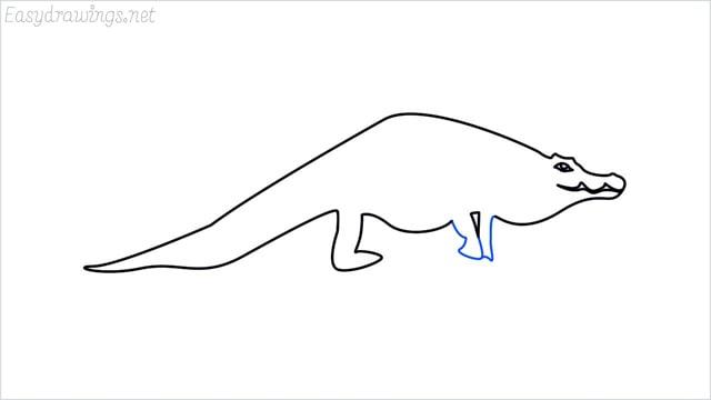 how to draw a crocodile step (8)