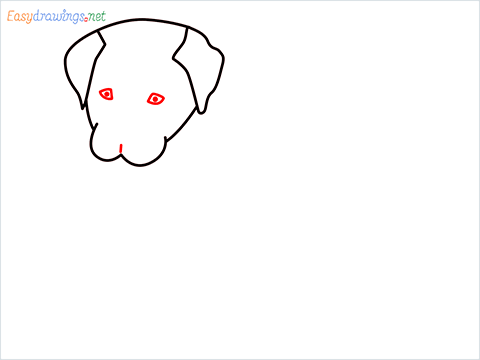 how to draw a cute dog sitting step (4)