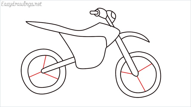 how to draw a dirt bike step (13)