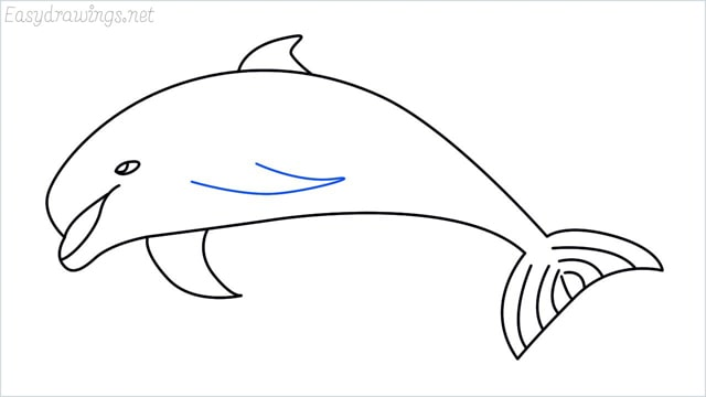 how to draw a dolphin step (8)