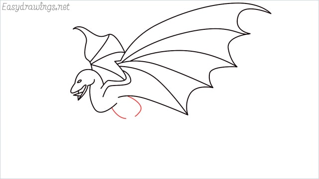 how to draw a dragon step (12)