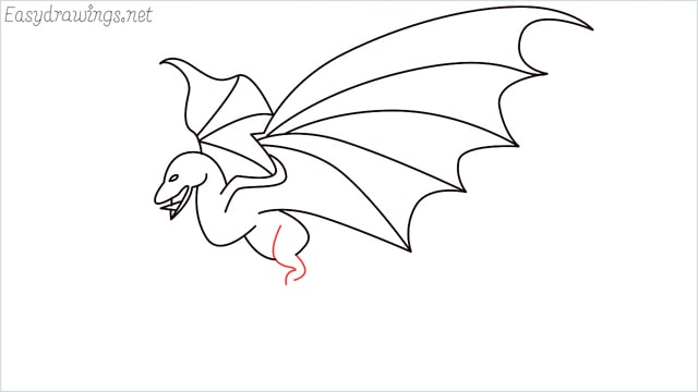how to draw a dragon step (13)
