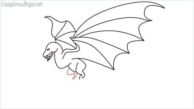how to draw a dragon step (14)