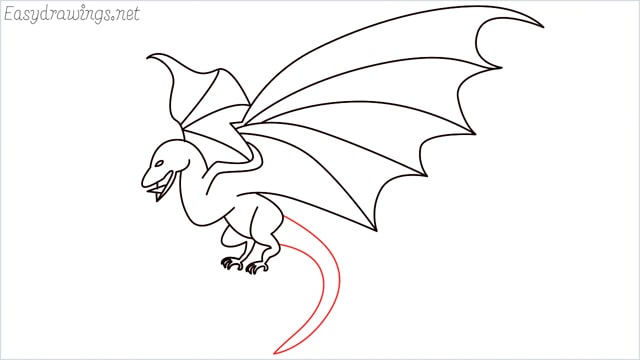 how to draw a dragon step (16)