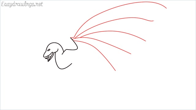 how to draw a dragon step (6)