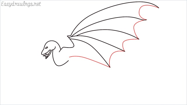 how to draw a dragon step (7)