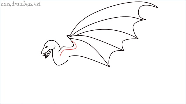 how to draw a dragon step (8)