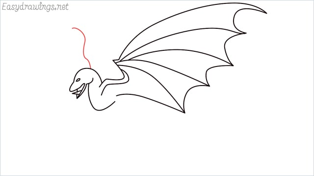 how to draw a dragon step (9)