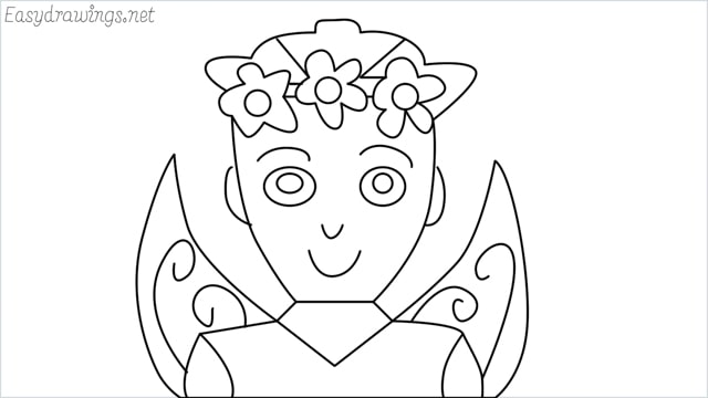 how to draw a fairy step by step