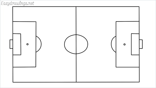 how to draw a football court step by step