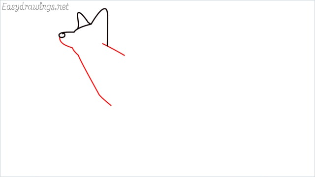 how to draw a fox step (4)