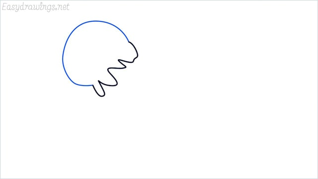 how to draw a jellyfish step (2)