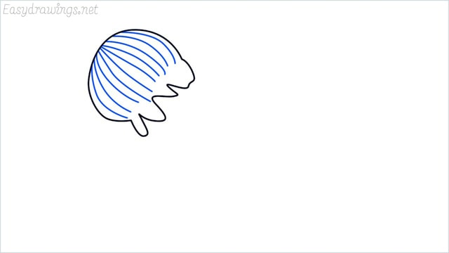how to draw a jellyfish step (3)