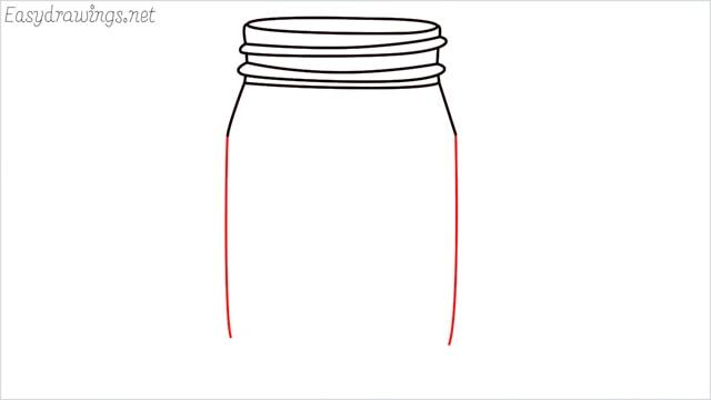 how to draw a mason jar step (7)