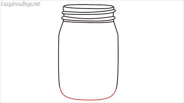 how to draw a mason jar step (8)