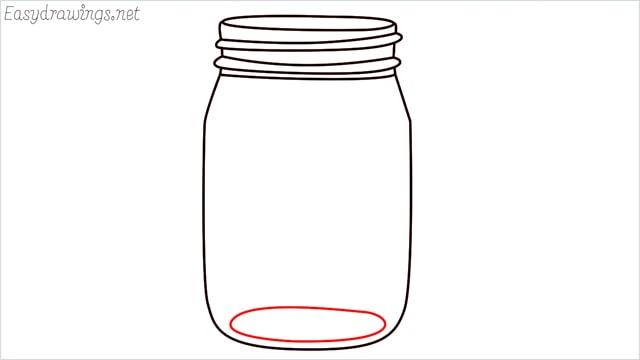 how to draw a mason jar step (9)