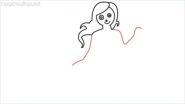 how to draw a mermaid step (6)