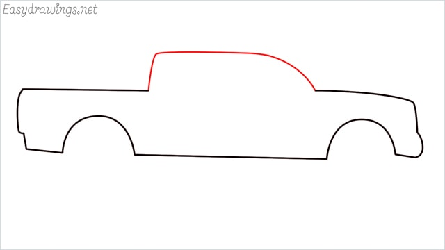 how to draw a pickup truck step (4)