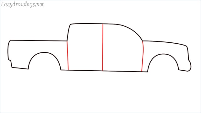 how to draw a pickup truck step (5)