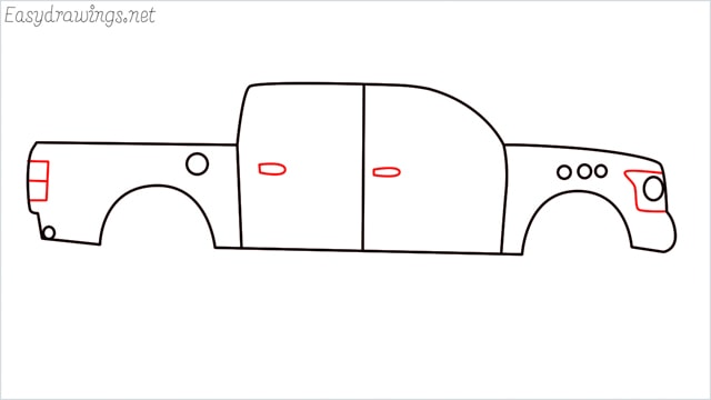 how to draw a pickup truck step (7)