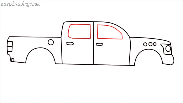 how to draw a pickup truck step (8)