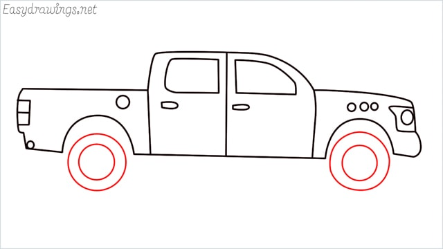 how to draw a pickup truck step (9)