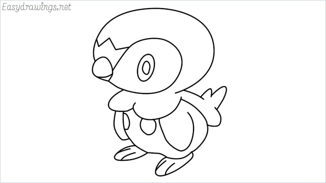 how to draw a piplup step by step