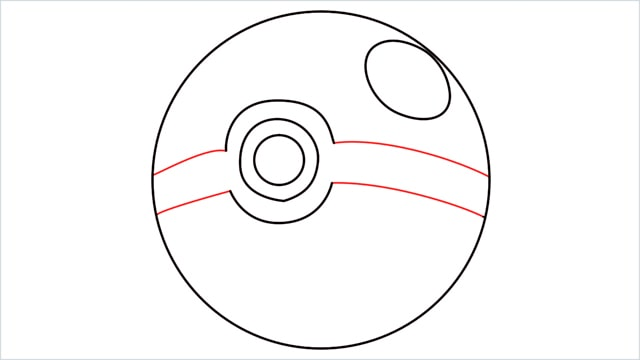 how to draw a pokemon ball step (5)