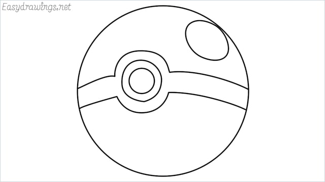 how to draw a pokemon ball step by step