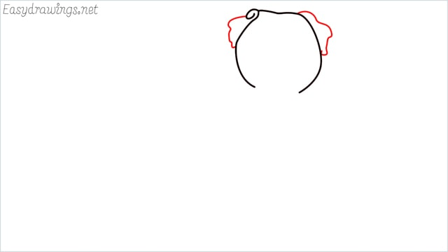 how to draw a pug step (2)