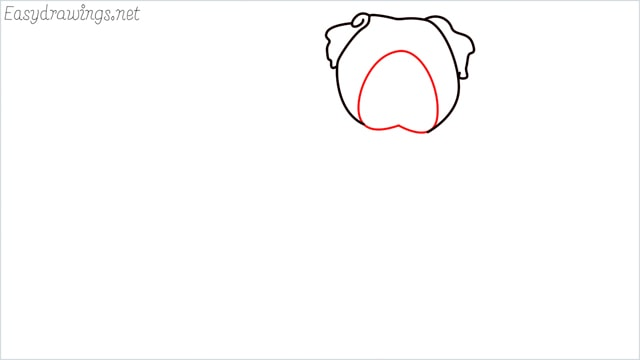 how to draw a pug step (3)