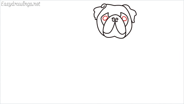 how to draw a pug step (7)