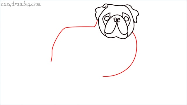 how to draw a pug step (8)