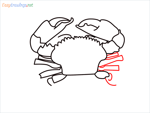 how to draw a realistic crab step (10)