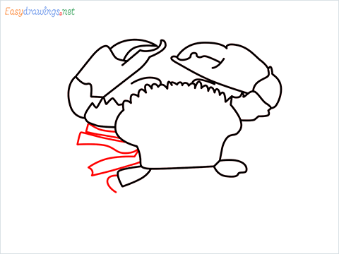 how to draw a realistic crab step (9)