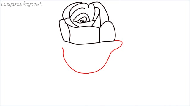 how to draw a rose step (7)