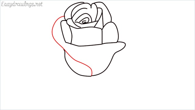 how to draw a rose step (8)